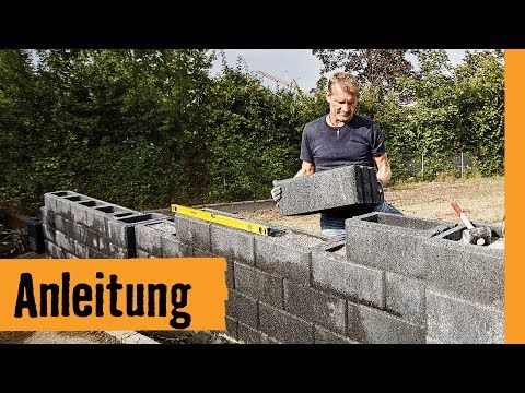 gartenmauer selber bauen die betonsteinmauer youtube anleitungen garten gartenmauer. Black Bedroom Furniture Sets. Home Design Ideas