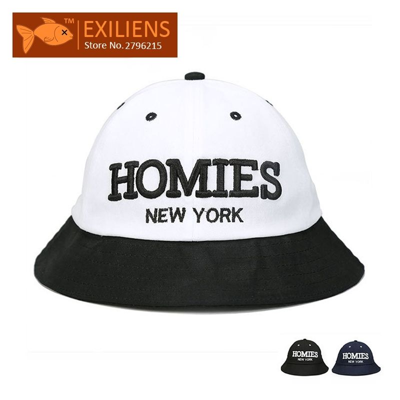 e0fe0c57e2222  EXILIENS  2017 Fashion Brand Bucket Hats Cotton HOMIES Hot Casual  Fisherman Caps Hip-