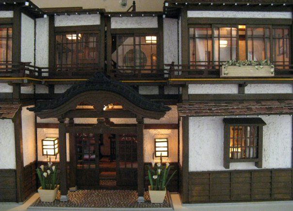 This appears to be the same miniature Ryokan as I am getting, but it isn't the same one as the other three that I've seen. Does anyone know who built this one?