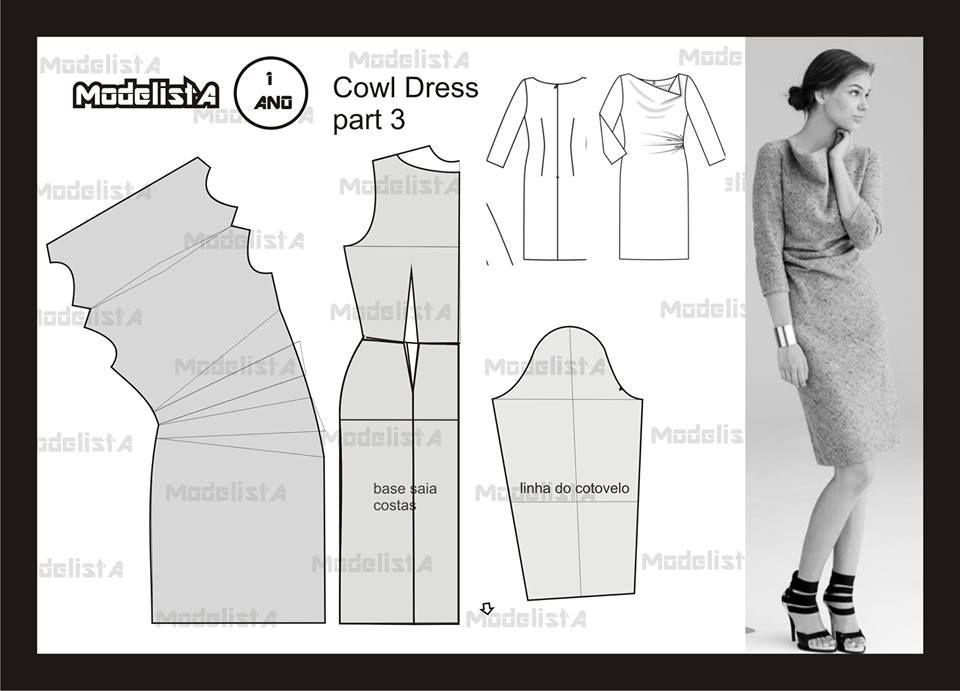 modelagem de vestido Cowl Dress part 3. Fonte: https://www.facebook.com/photo.php?fbid=567967103239199&set=a.426468314055746.87238.422942631074981&type=1&theater