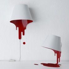 Epingle Par Petra Sur Home Decor Lampe Rouge Luminaire Design Lampe Peinte