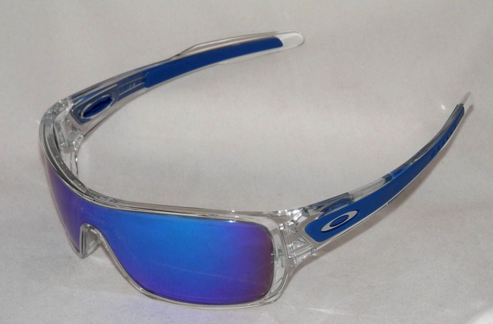9392ce24e2 NEW OAKLEY TURBINE ROTOR OO9307-10 POLISHED CLEAR W  SAPPHIRE IRIDIUM LENS  (eBay Link)