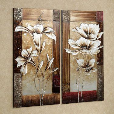 Petals Of Spring Floral Canvas Wall Art Set Floral Wall Art Canvases Canvas Wall Art Set Canvas Wall Art
