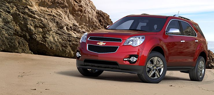 2014 Chevy Equinox Fuel Efficient Crossover Suv In Crystal Red