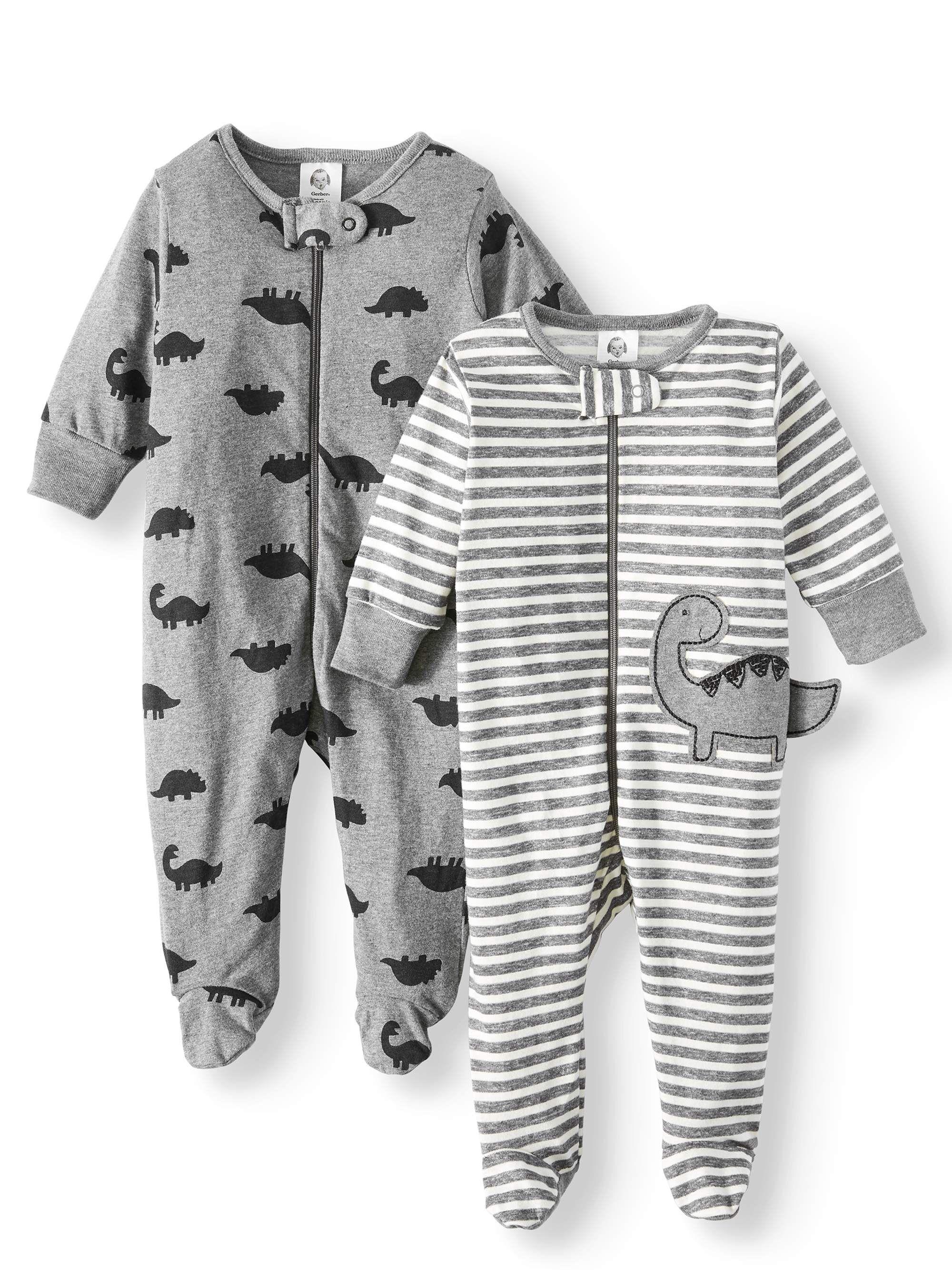 Gerber - Gerber Baby Boy Organic Cotton Zip Front Sleep N Play