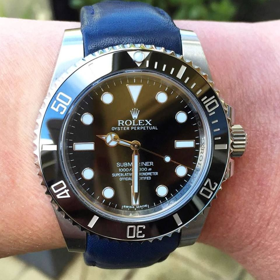 Blue Leather Everest Strap For Your Rolex Fall Favorite