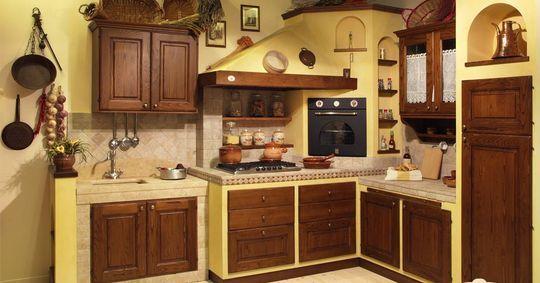 Cucina in muratura Clivia della produzione La Vecchia Bottega di L ...