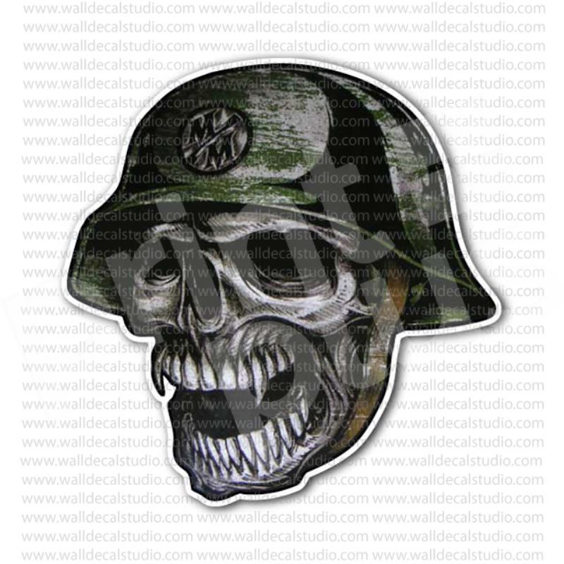M m metal mulisha no mercy skull sticker