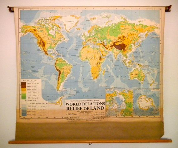 Classroom Pull Down Large World Map | Pinterest | Wood bars, Solid ...