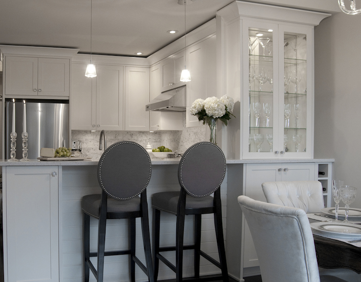Pin By B H On White Kitchen Options Home Country Dining Rooms Tufted Dining Chairs