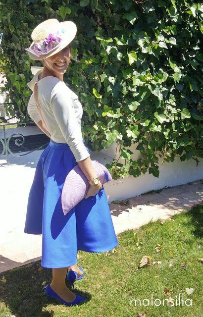 Vestido azul midi boda