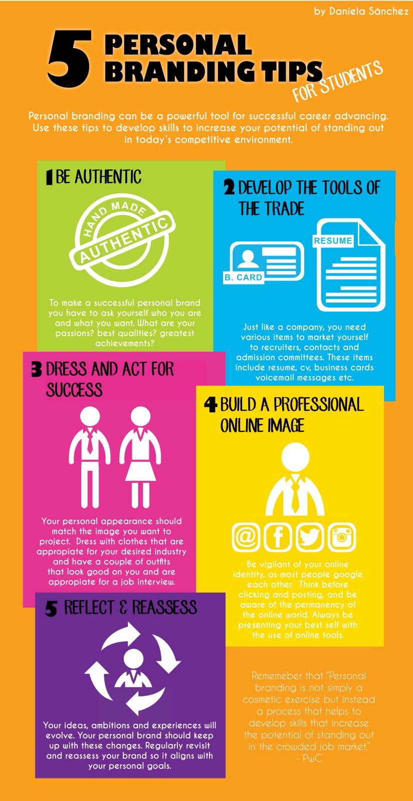 5 Personal Branding Tips For Students This Infographic Created