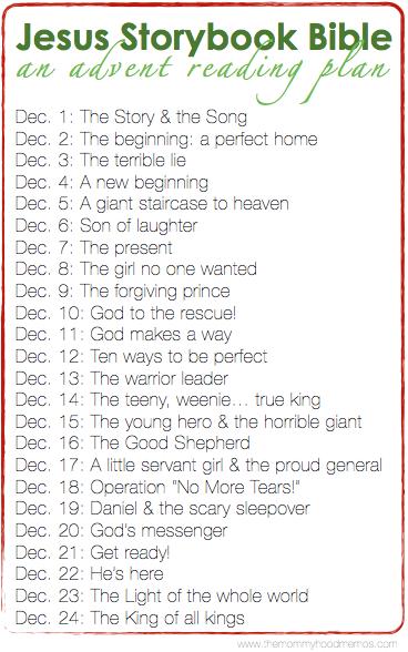 jesus storybook bible an advent reading plan