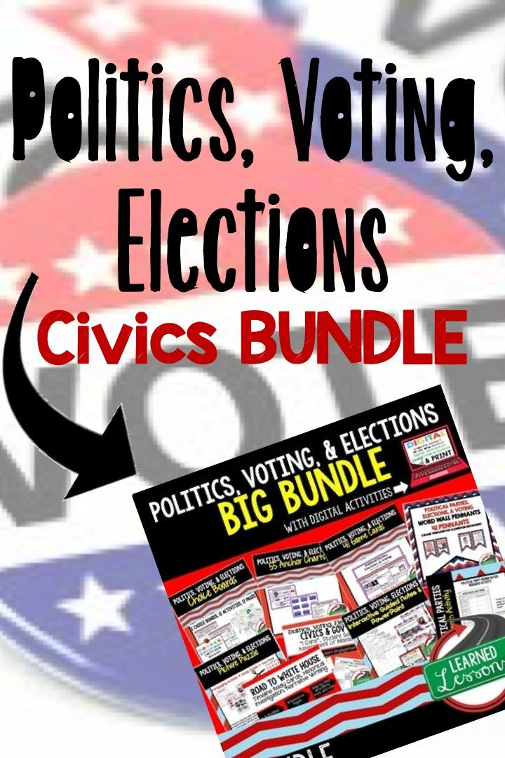 Photo of Politics, Voting, Elections Activities and Lessons