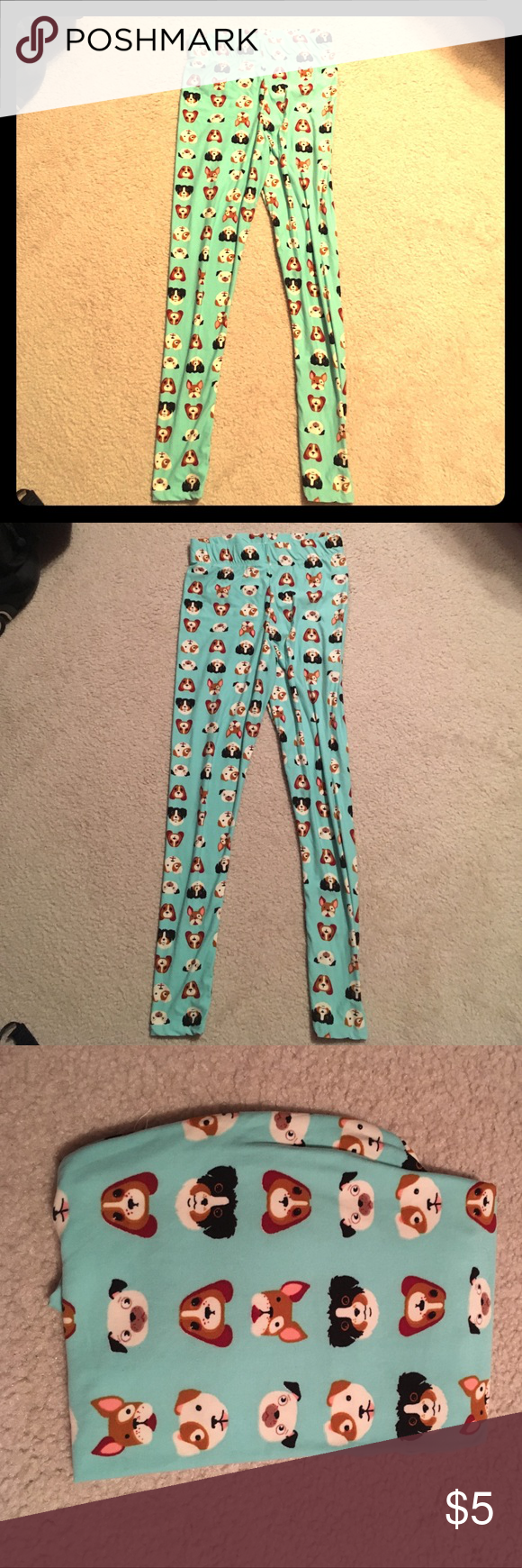 Teal Super Soft Cute Dog Print Leggins Rue 21 Teal Super Soft Cute Dog Print Leggins Rue 21 Rue 21 Pants Leggings
