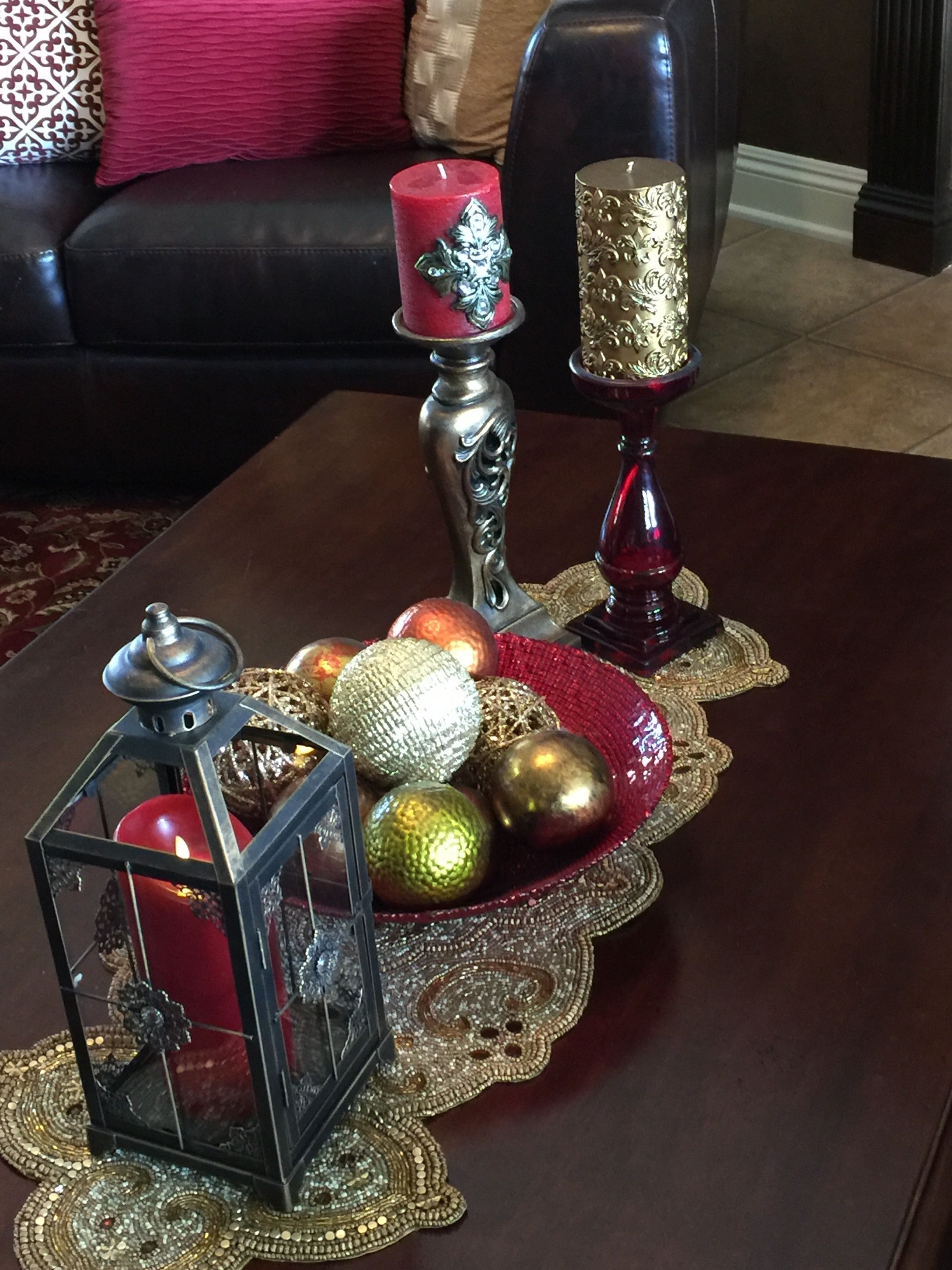 My Coffee Table Table Runner Pier One Lantern Pier One Red