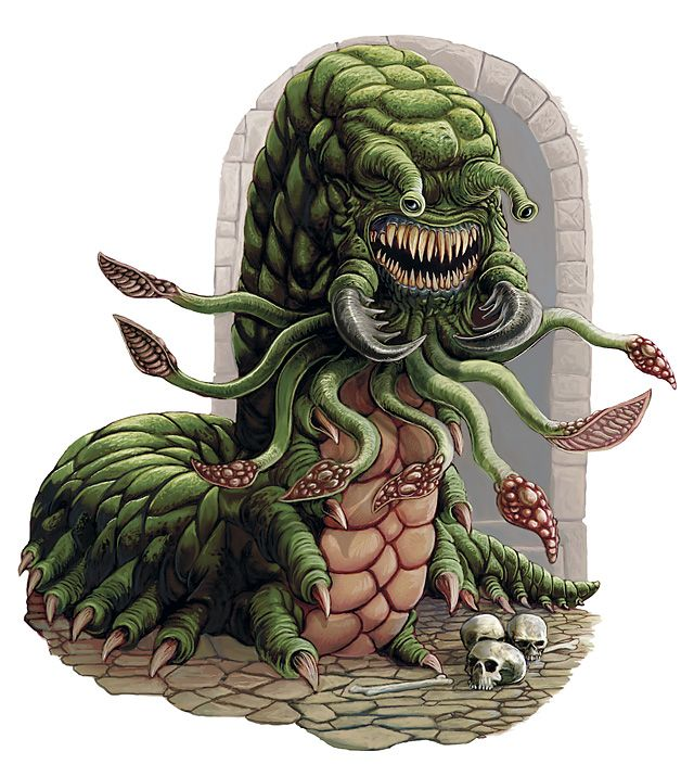A Carrion Crawler Carrion Crawler Fantasy Monster Dnd Monsters