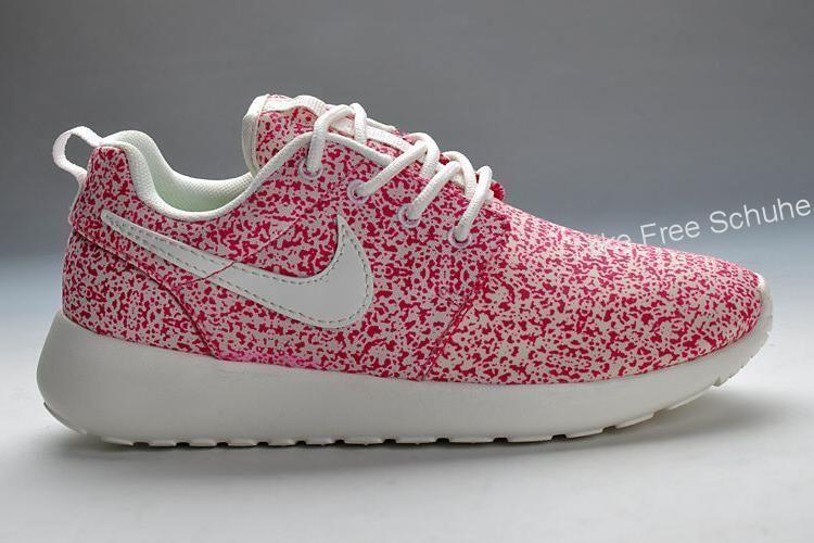 nike roshe run rosa weiß