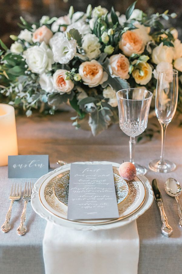 Savannah Inspired Wedding Shoot In Canada Menu Casamento