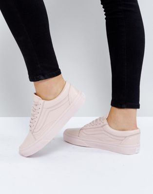 Vans Old Skool Sneakers In Pastel Pink Mono Leather at asos.com ... 7f9062506