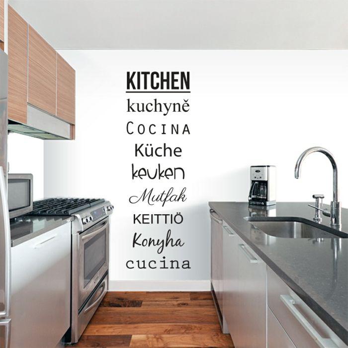 kreative wandgestaltung küche wandsprüche Tattoos Pinterest - wandgestaltung in der küche