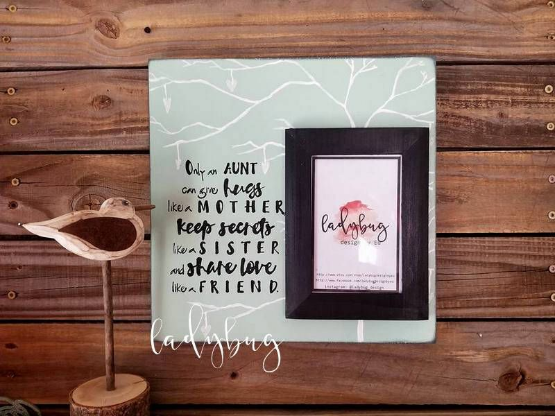 Only An Aunt Can Give Hugs Like A Mother Picture Frame 12x12