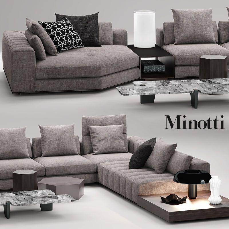 Minotti Freeman Seat 3d Max Living Room Sofa Design Sectional Sofas Living Room Living Room Sofa Set
