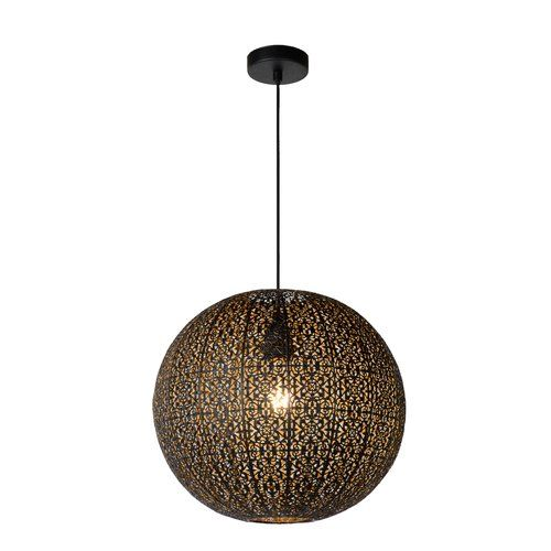 Tahar 1 Light Globe Pendant Lucide Globe Pendant Light Globe Lights Bohemian Lighting