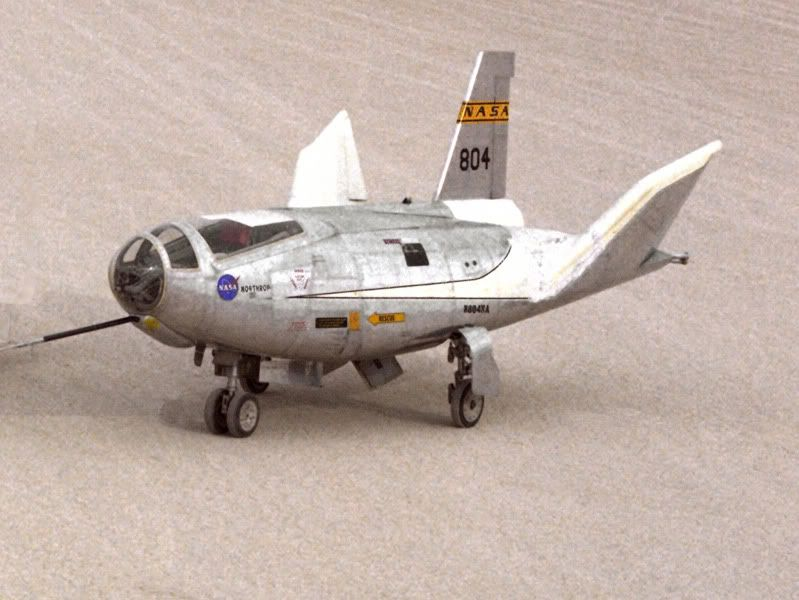 Lifting body spacecraft artwork