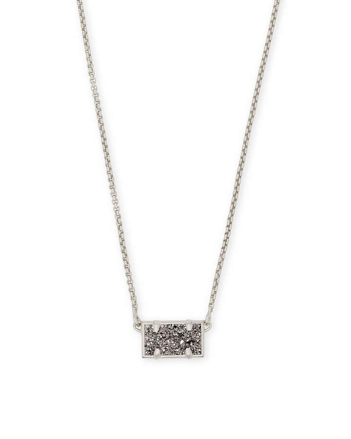 Pattie Pendant Necklace in Platinum Drusy #Antique#Silver