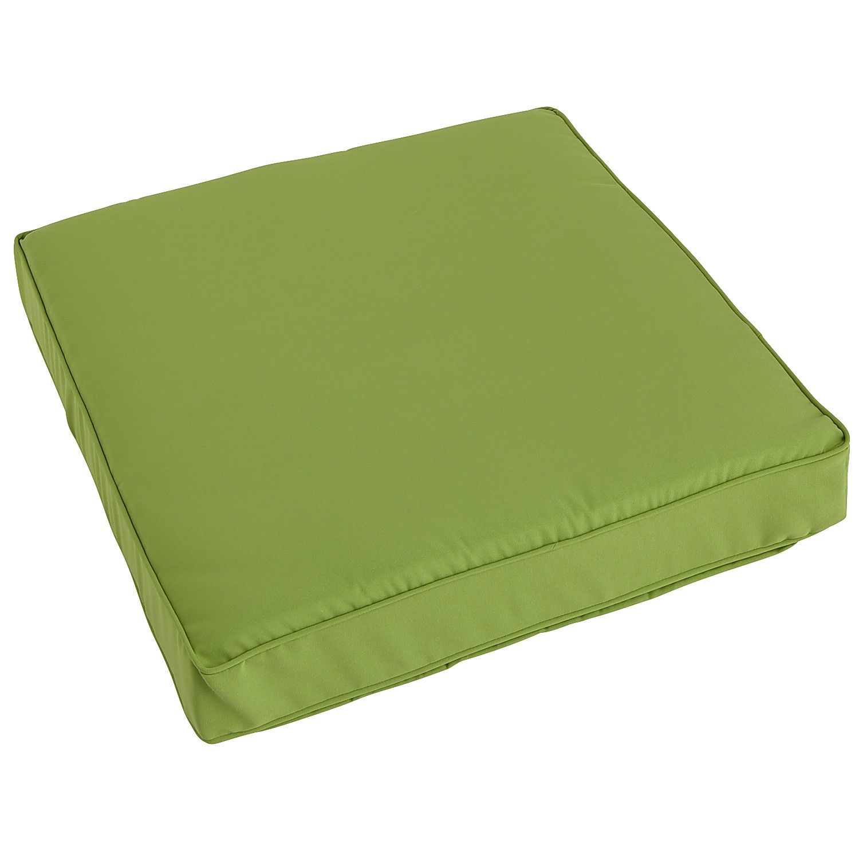 Green deluxe modular seat cushion cabana citrus polyester