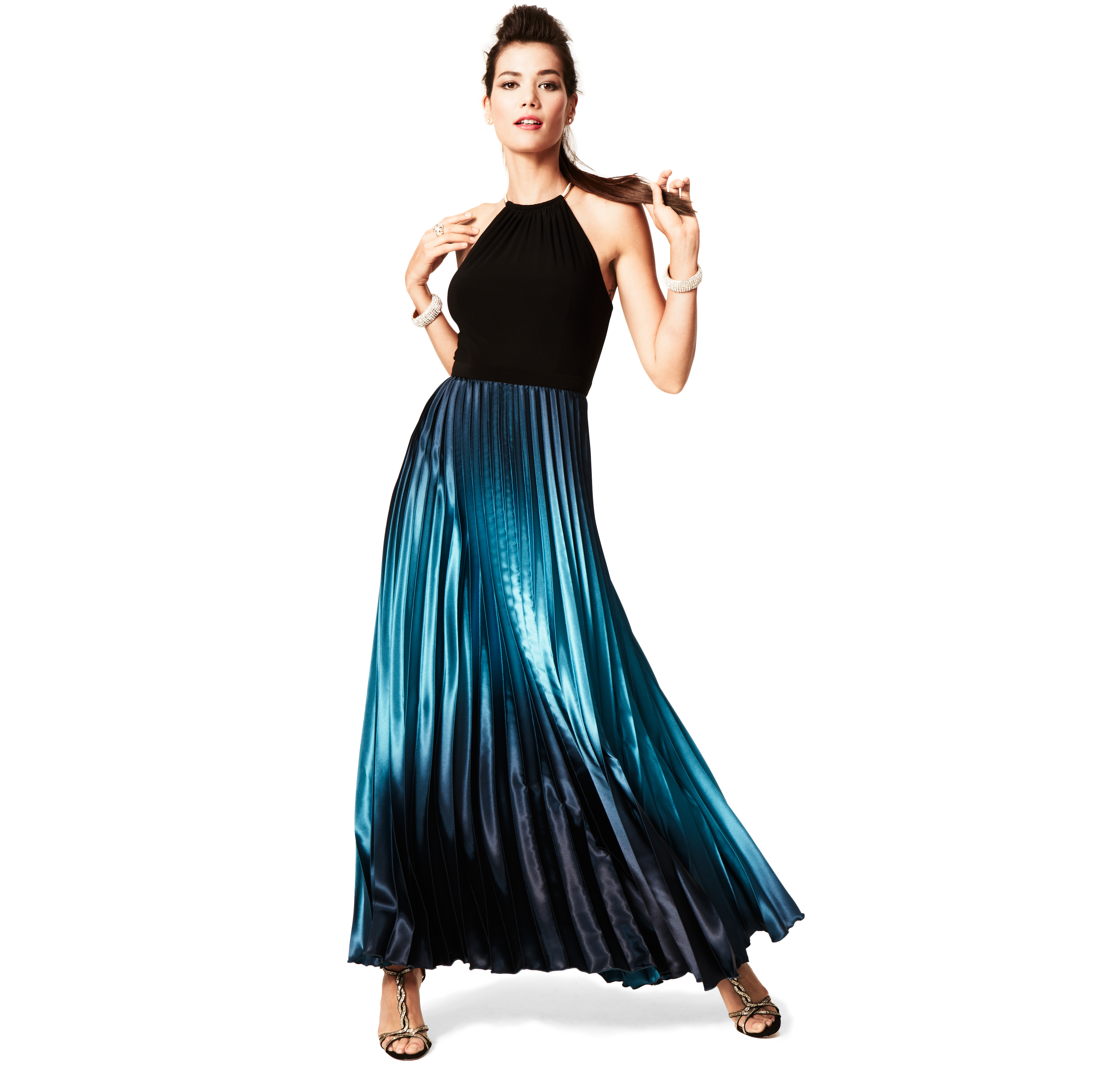 Xscape sleeveless ombre halter gown products pinterest halter