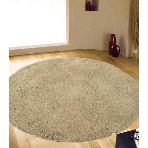 Texture Round Shag Rug Cream 150x150cm