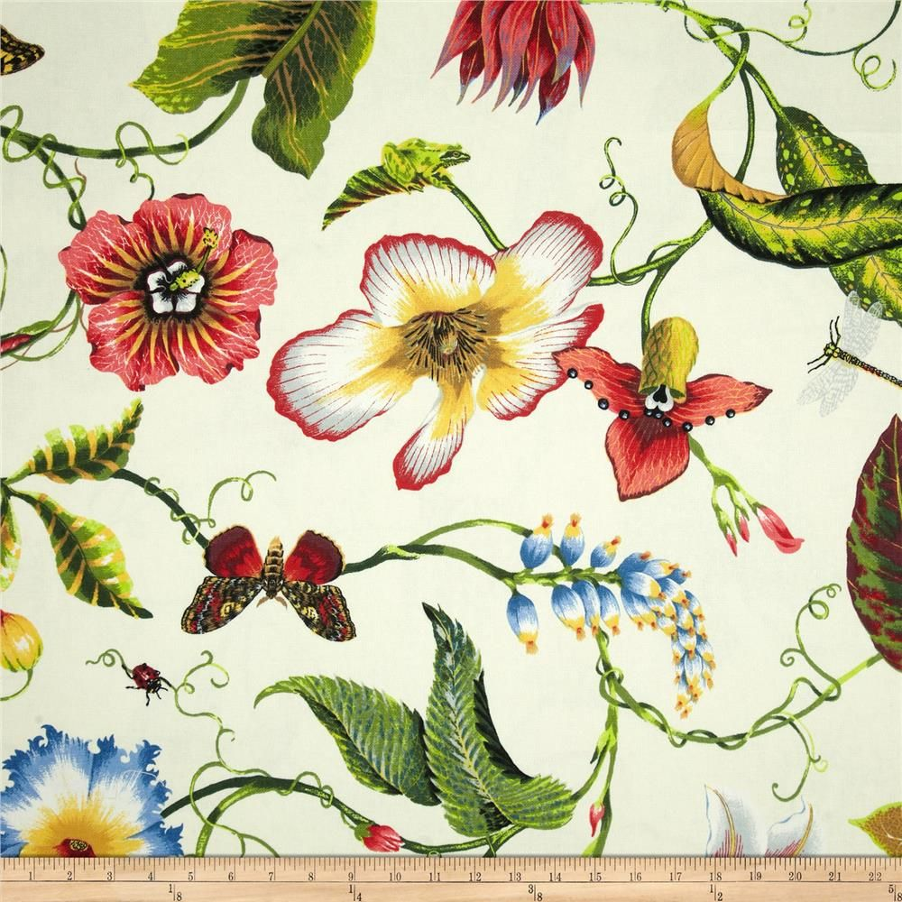 Duralee Home Flora Imperialis Ivory Multi From Fabricdotcom