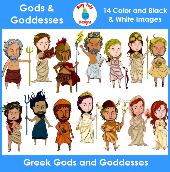 Greek Gods and Goddesses Clip Art Set | Goddesses, Gods and ...