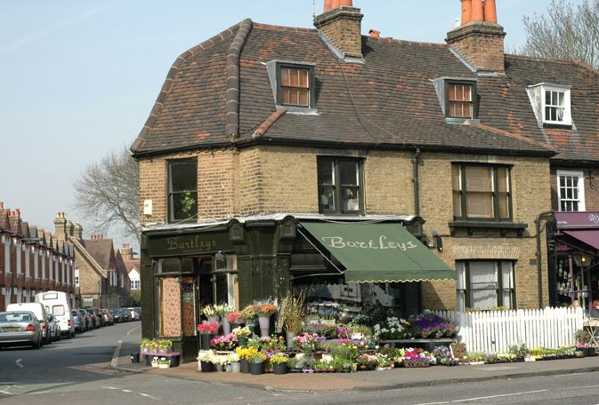 Dulwich Village flower shop. London