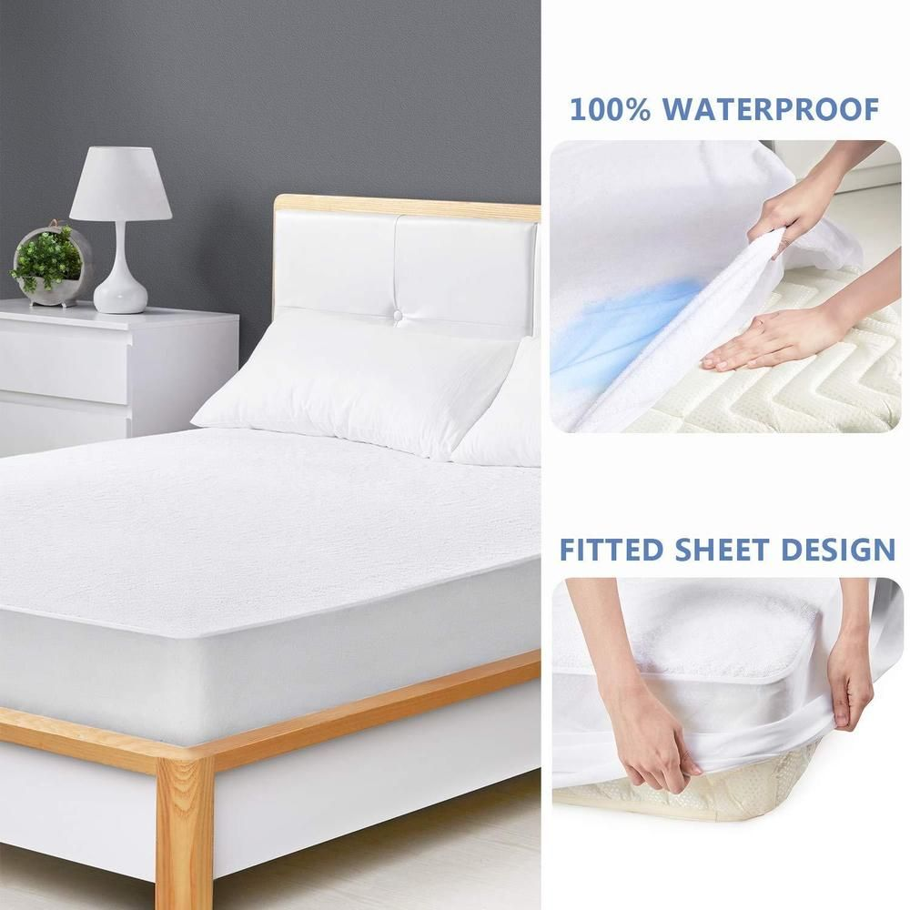 Hypoallergenic Waterproof Mattress Cover Protector Bed Bug Cotton Topper Mattresscover Mattressprotector Bed Mattress Covers Waterproof Mattress Cover