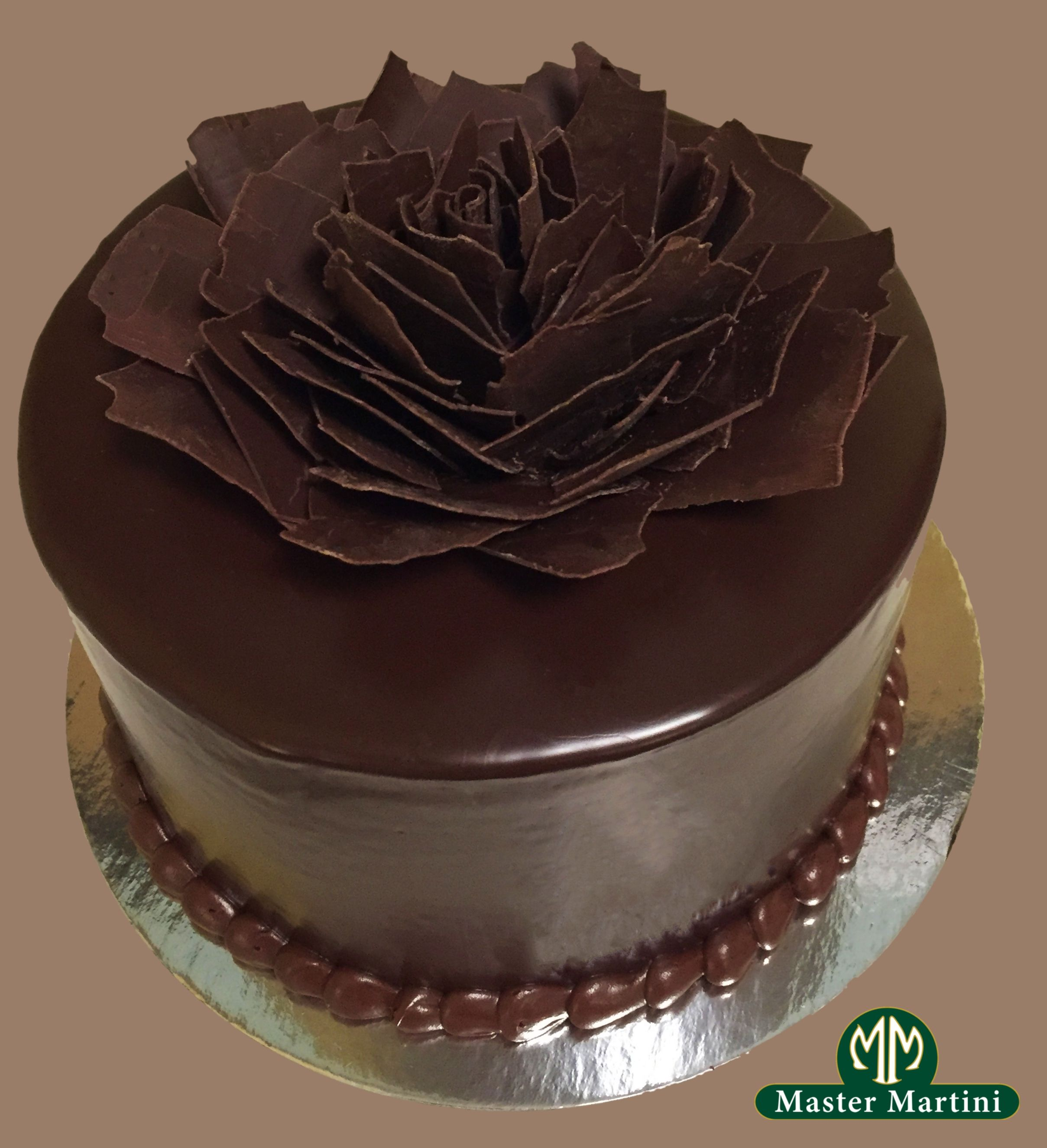 Shattered Flower Ganache Cake Simple Elegant Cake Made With