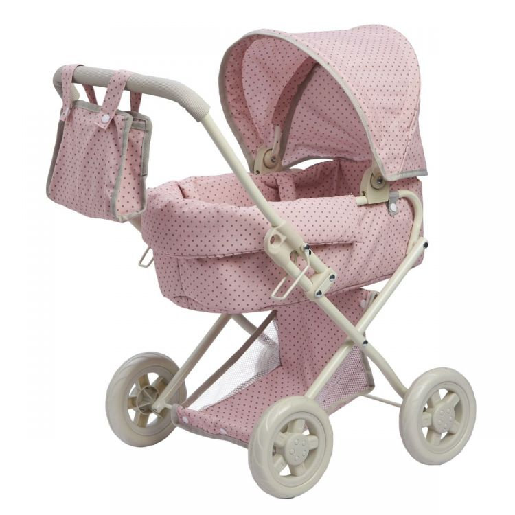Polka Dots Princess Baby Doll Deluxe Stroller Pink
