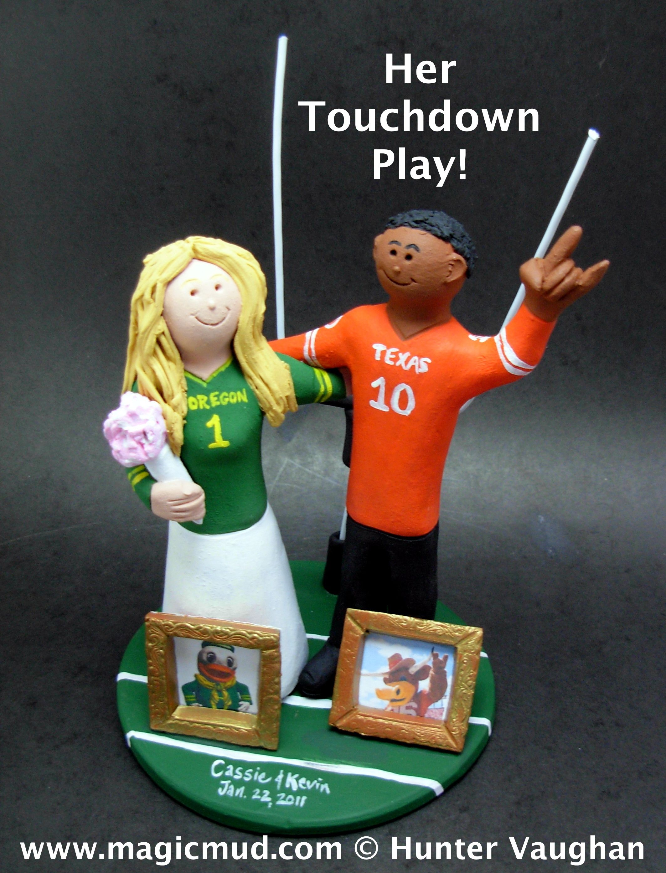 Texas-Longhorns-and-Oregon-Ducks-Football Wedding-Cake-Topper  www.magicmud.com 1 800 231 9814 magicmud magicmud... blog.magicmud.com  twitter.com ... ... 789863bee