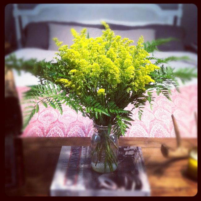 Wedding Venues Near Me Cheap: Goldenrod And Fern Bouquet
