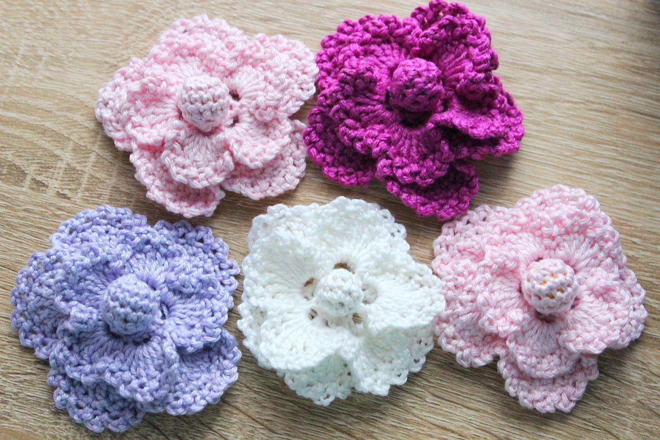 Kostenlose Anleitung. Häkelblume | Blumen und Blüten | Pinterest ...
