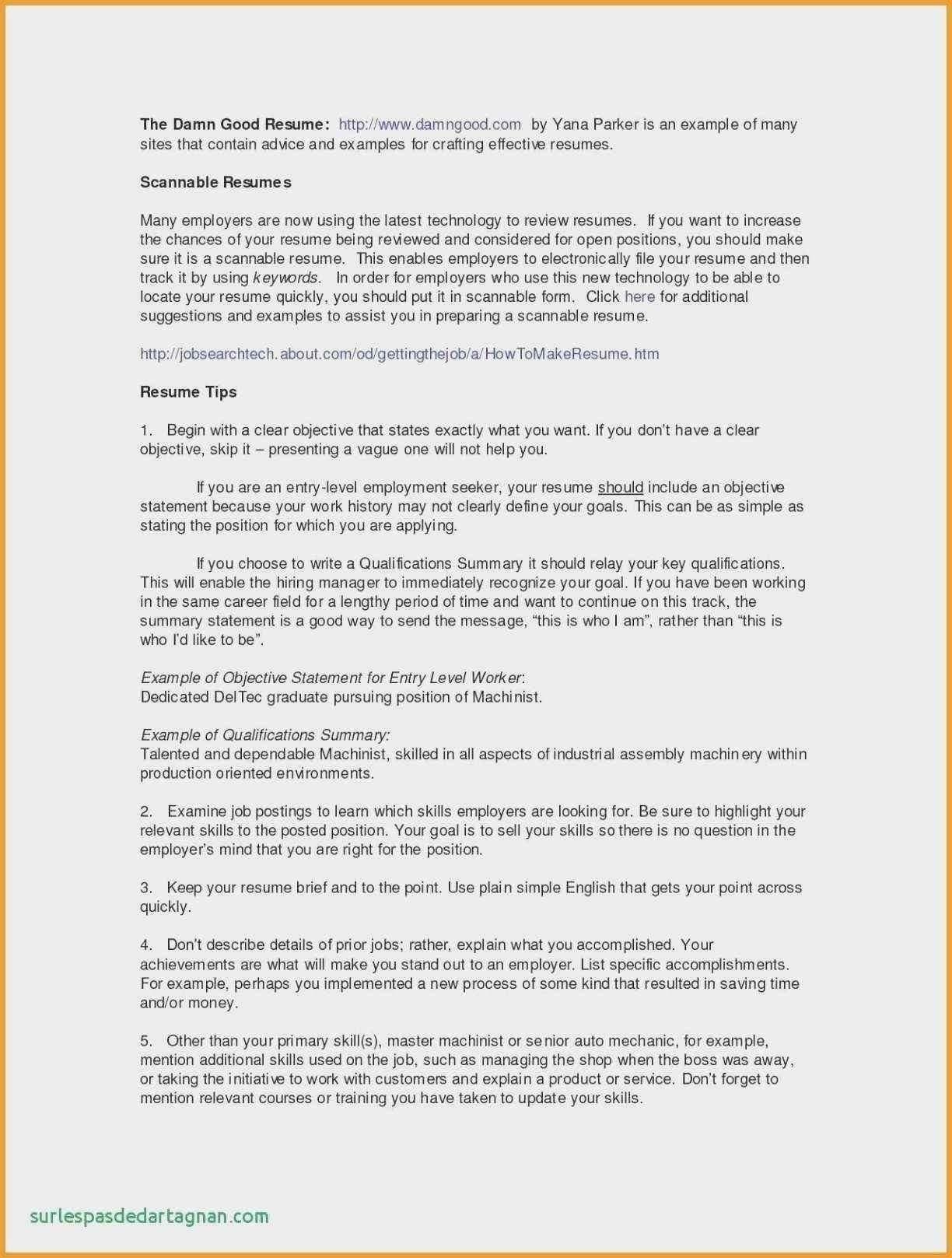 Resume Summary Vs Objective New 10 Objective Summary