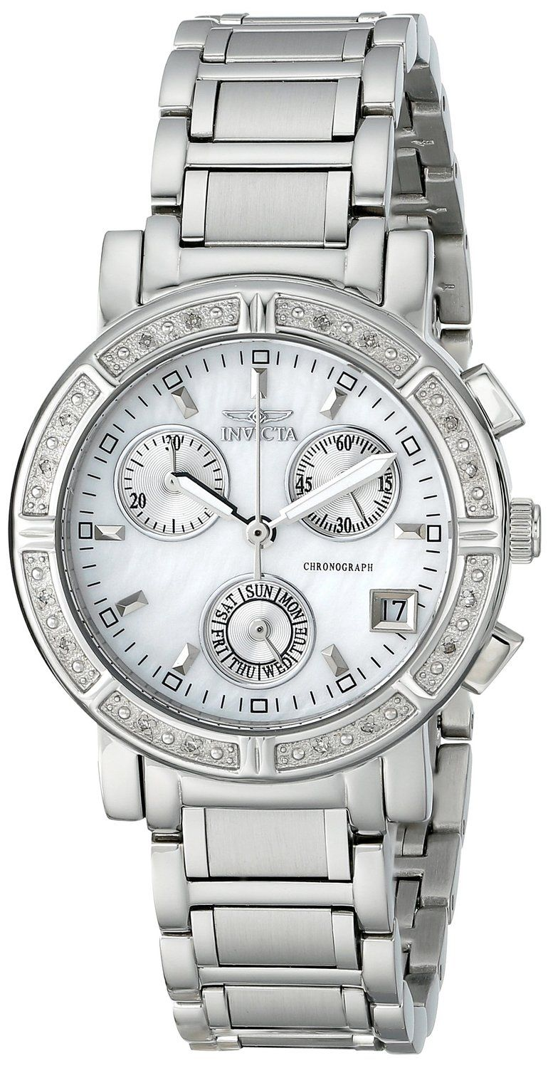 Invicta Women's 4718 II Collection Limited Edition Diamond Chronograph  Watch >>> Visit the image link more details.
