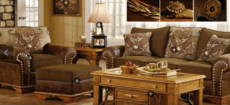 Bring The Outdoors Inside With A Whitetail Themed Living Room Set Rustic Bedroom Furniture Sets Bedroom Furniture Sets Home Decor