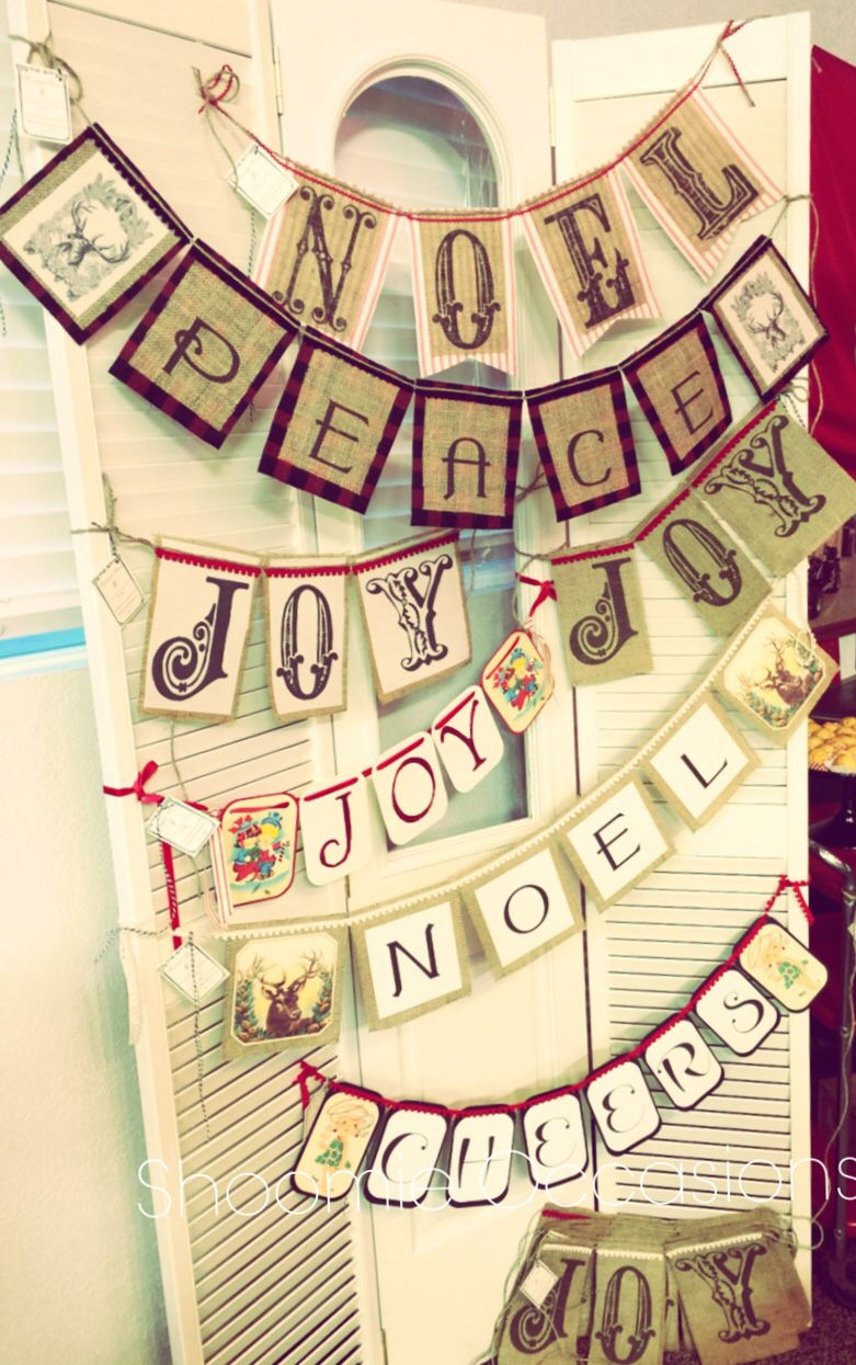 Handmade Christmas banners by Shoomie Occasions www.facebook.com/shoomieoccasions