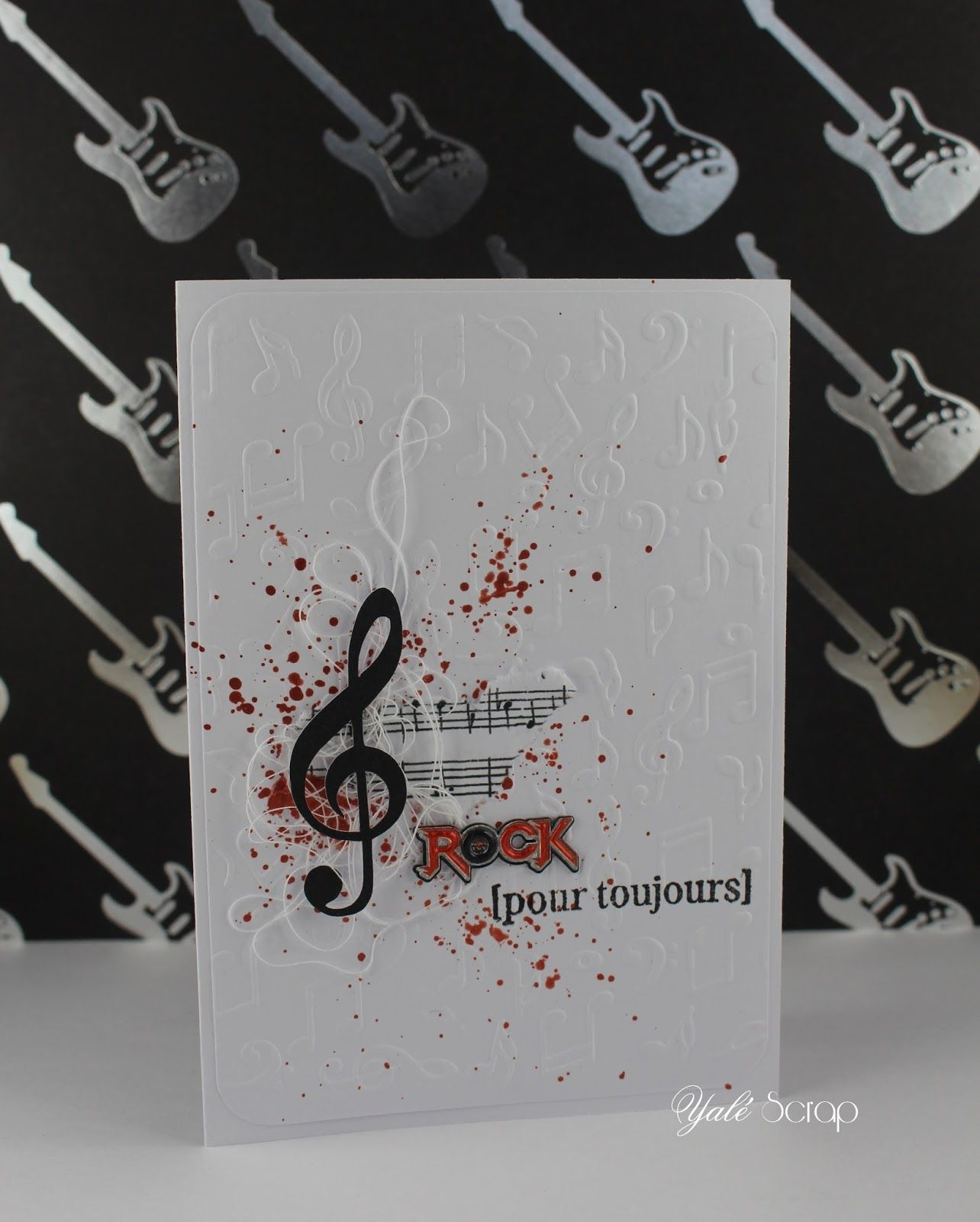 scrap 39 carte rock pour toujours cards music. Black Bedroom Furniture Sets. Home Design Ideas