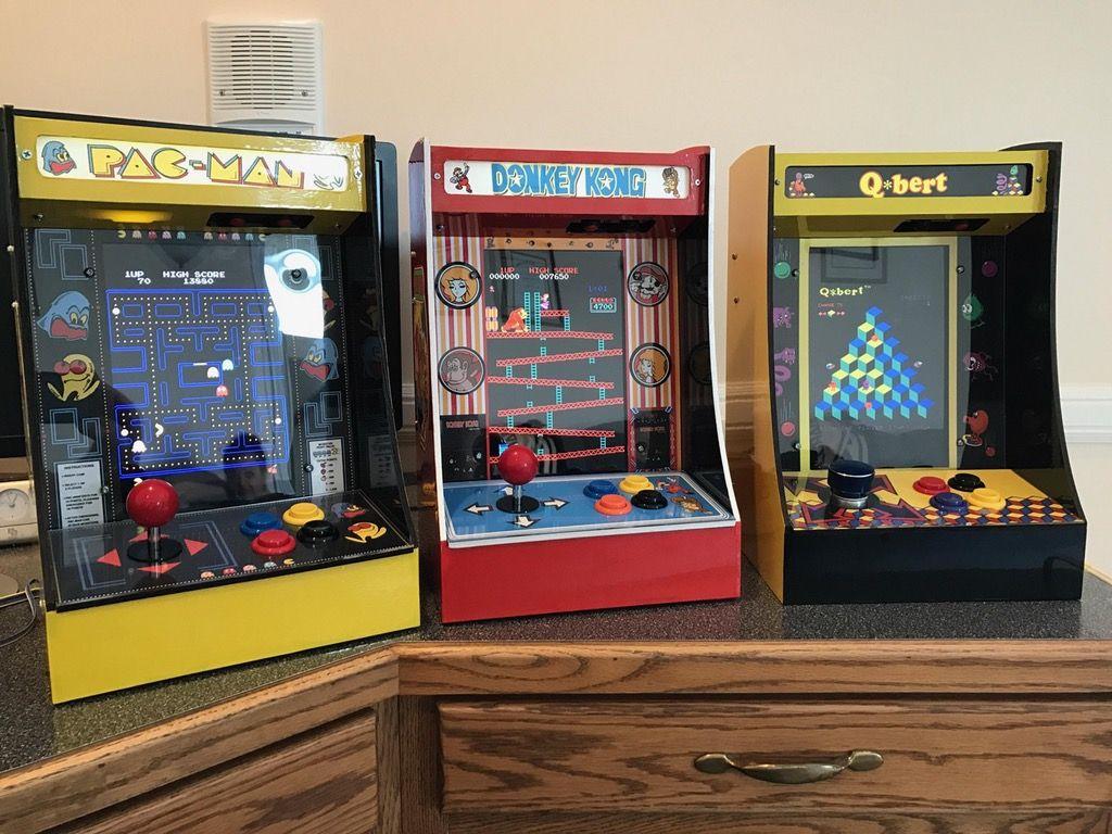 I made mini arcade cabinets running an emulation program off