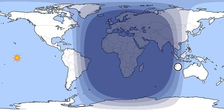 Day and Night World Map: The map below shows the current position of ...