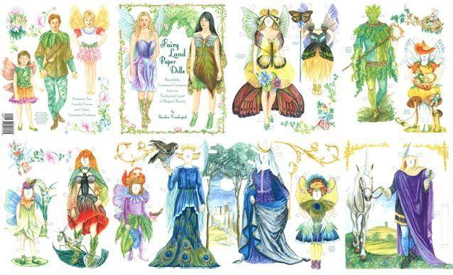 PSP- Fairyland Paper Dolls by Sandra